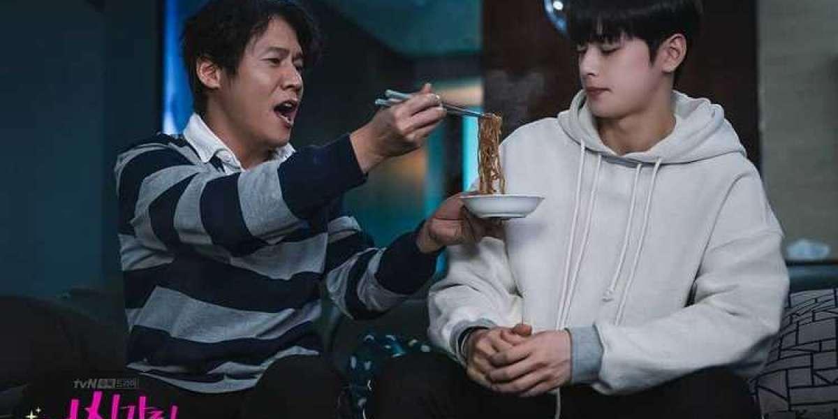 tvN MERILIS STILL CUT LEE SUHOO MAKAN BARENG AYAH JUKYUNG